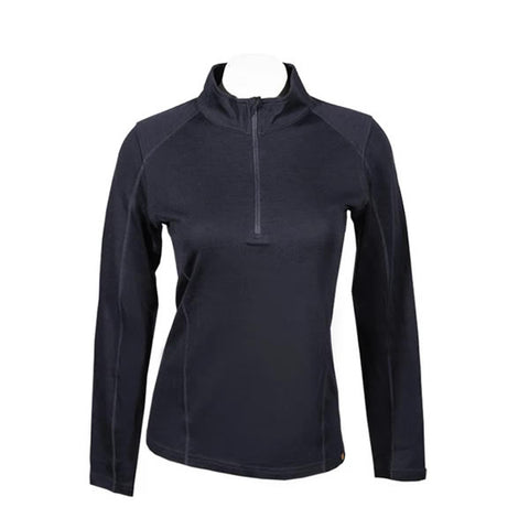 Point6 Women's Quarter Zip LS Merino Crew Thermal Top front view