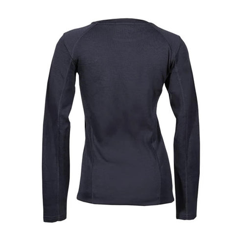 Point6 Women's Long Sleeve Crew Merino Top Black rear