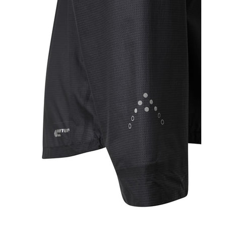 Rab Men's Phantom Pull-On Lightweight Waterproof Pullover Black sleeve detail