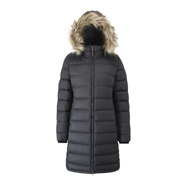 Rab Women's Deep Cover Parka with Removable Hood Black Hood Up