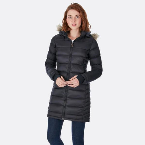 Rab Women's Deep Cover Parka in use black