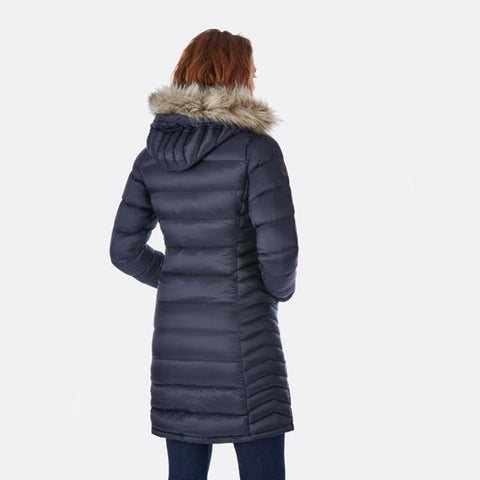 Rab Women's Deep Cover Parka in use rear view