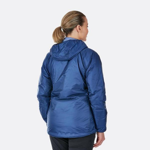 Rab Women's Xenon Hoody Insulated Jacket in use rear view
