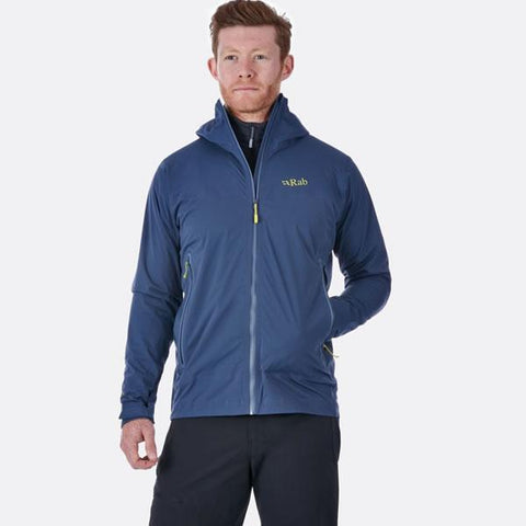 Rab Men's Kinetic Plus Jacket in use front view