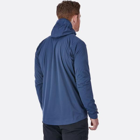 Rab Men's Kinetic Plus Jacket in use rear view