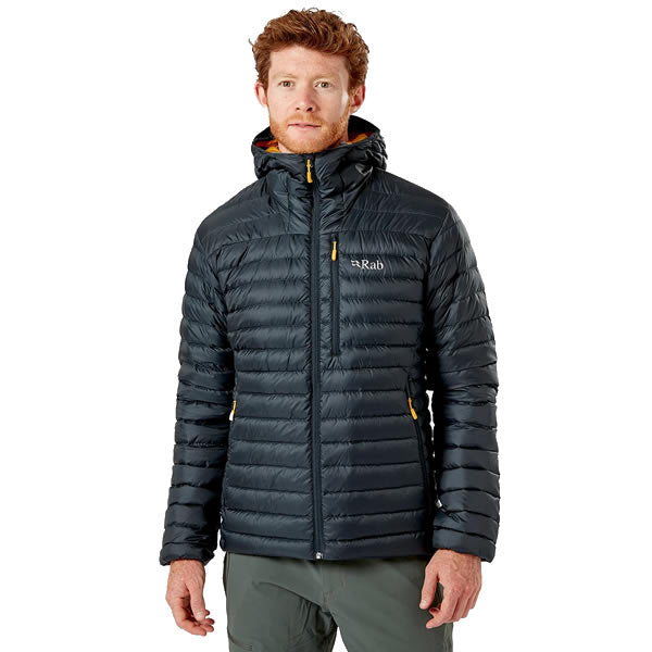 Rab Men's Microlight Alpine Hoody in use front view