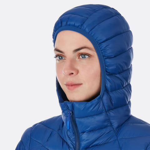 Rab Women's Nimbus Insulated Synthetic Jacket Hood in use