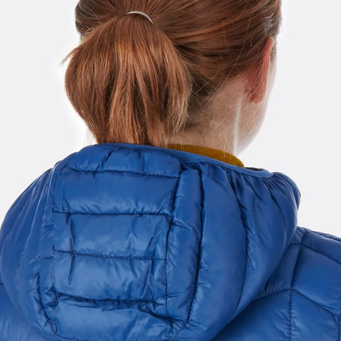 Rab Women's Nimbus Insulated Synthetic Jacket rear view showing hood