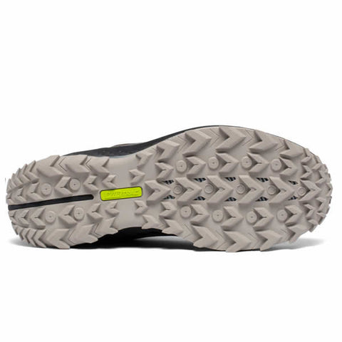 Saucony Men's Peregrine 11 Wide Gravel Black Trail Running Shoe sole view