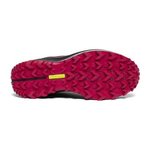 Saucony Women's Peregrine 10 Trail Running Shoe Black Barberry sole view