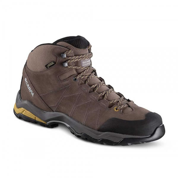 Scarpa Men's Moraine Plus Mid Gore-Tex Hiking and Travel Boot Charcoal Sulphur Green