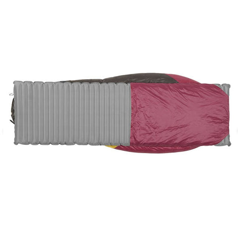 Sierra Designs Cloud 800 Women's -3 degrees 800 FP Down Zipperless Sleeping Bag sleeve for mat