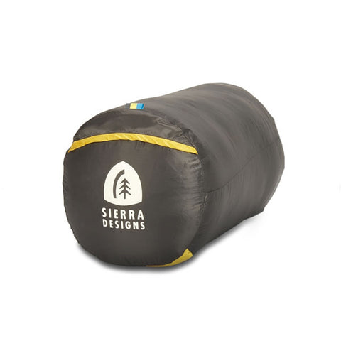 Sierra Designs Cloud 800 Women's -3 degrees 800 FP Down Zipperless Sleeping Bag with mesh storage bag
