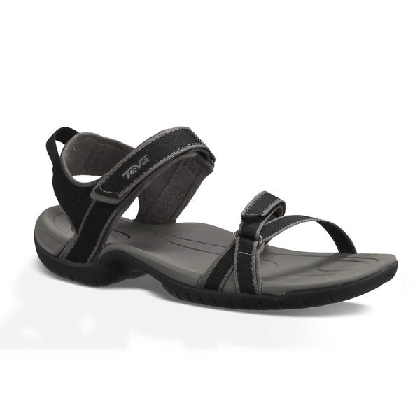 Teva Verra Womens Multisport Sandal Black diagonal view