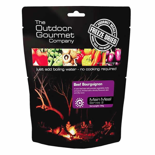The Outdoor Gourmet Company Beef Bourguignon Meal Pack - Double Serve