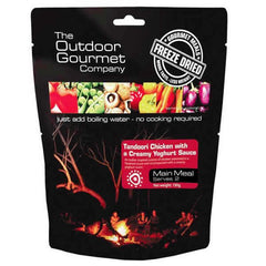 The Outdoor Gourmet Company tandoori chicken with yoghurt sauce-double serve