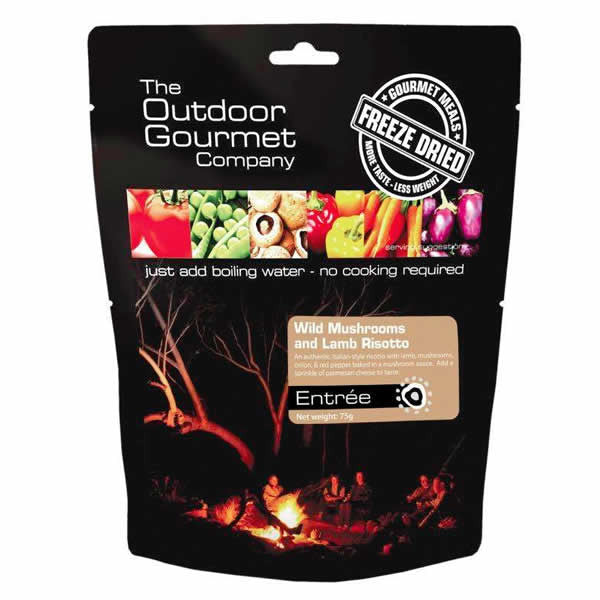 The Outdoor Gourmet Company Wild Mushrooms and Lamb Risotto Meal Pack - Double Serve