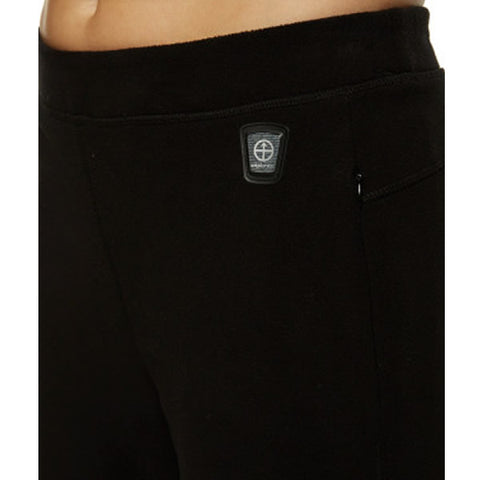 Vigilante Women's Blue Mountain Fleece Pant Black close up view