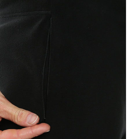 Vigilante Men's Aspect Fleece Pants Black zippered pockets
