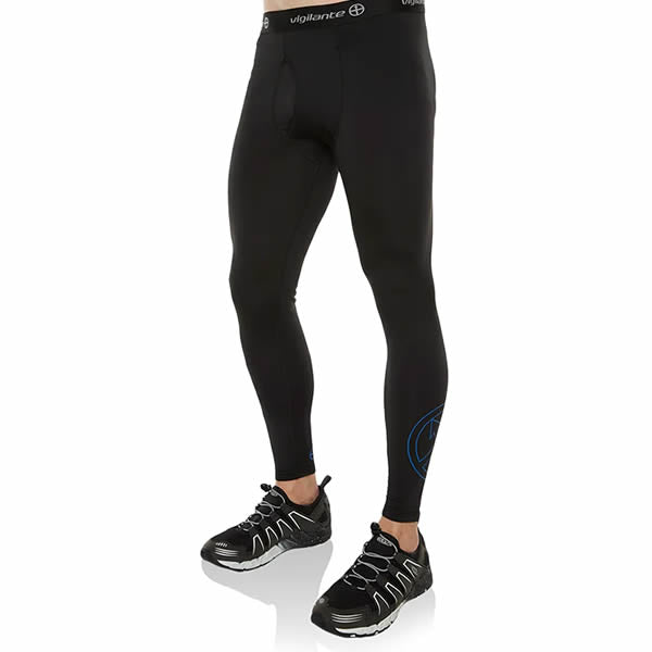 Vigilante Men's Galaxy Leggings Black Norseman Front View