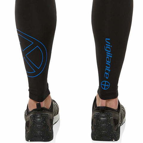 Vigilante Men's Galaxy Leggings Black Norseman reflective logo