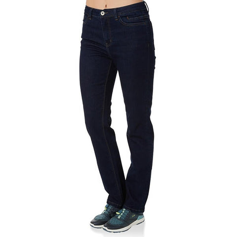 Vigilante Womens Gatechanger Travel Jeans in use front view