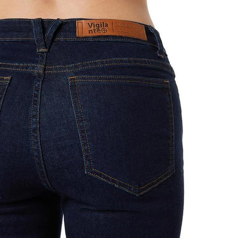 Vigilante Womens Gatechanger Travel Jeans rear view in use