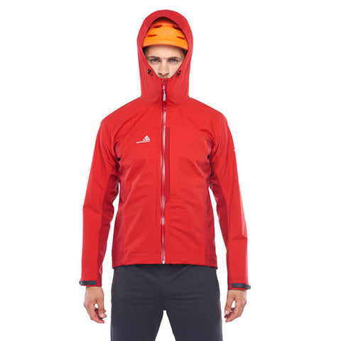 Westcomb Shift LT Hoody Hardshell 3 Layer Jacket with hood over helmet