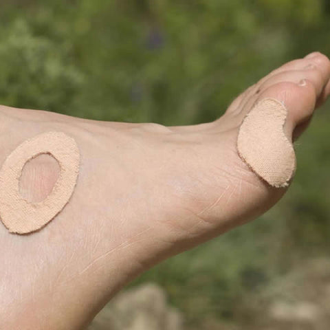 AMK Moleskin Pre Cut Blister Dressings on foot