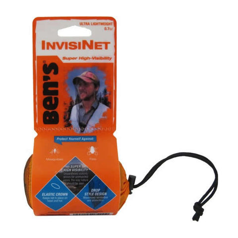 AMK SOL Bens Invisinet Mosquito Head Net in use