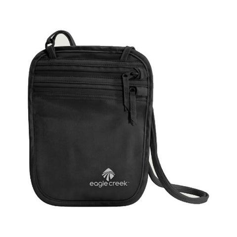 Eagle Creek Silk Undercover Neck Wallet black in use