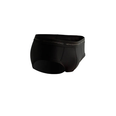 Exofficio Men's Flyless Brief Black front view