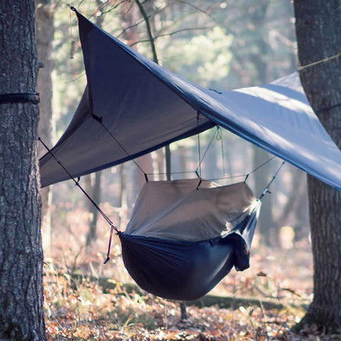 Grand Trunk Single Air Bivy Extreme Hammock Shelter in use