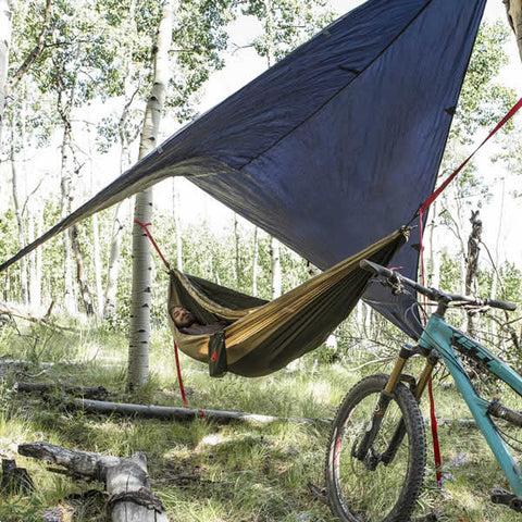 Grand Trunk All Purpose Hammock Rainfly over hammock 2