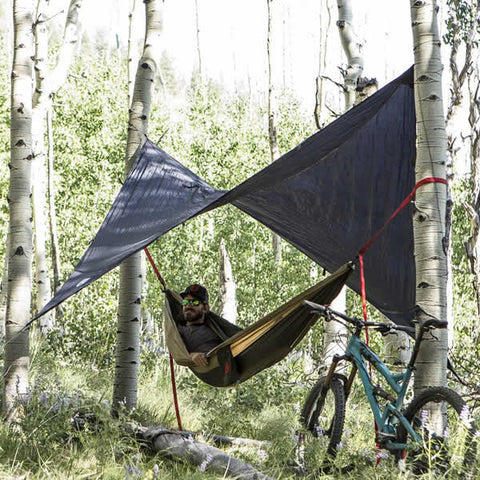Grand Trunk All Purpose Hammock Rainfly over hammock