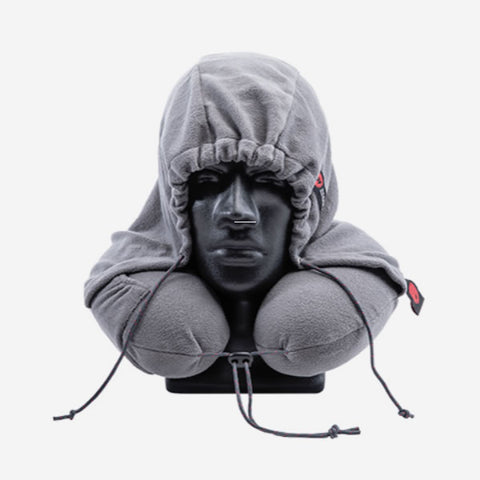 Grand Trunk Hooded Travel Pillow Slate Grey