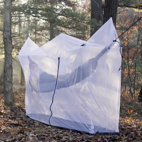 Grand Trunk Hammock Mosquito Net in use forest