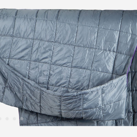 Grand Trunk Tech Throw Travel Quilt Blanket slate grey
