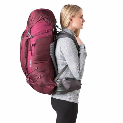 Gregory Deva Women's Hiking Backpack in use on back side view