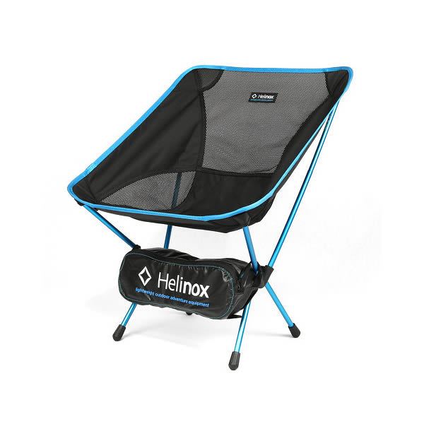 Helinox Chair One black with blue frame and carry bag