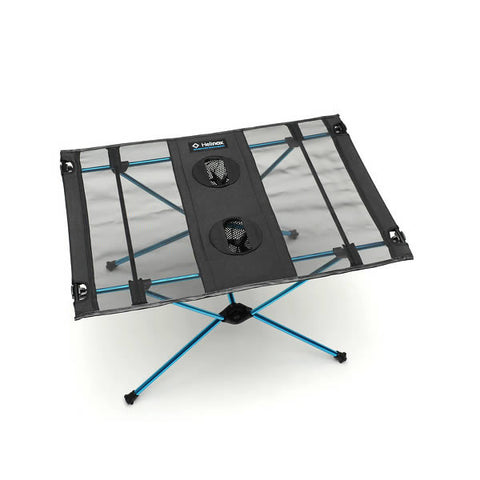 Helinox Table One assembled black top with blue frame