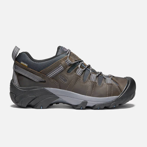 Keen Targhee II Men's Waterproof Hiking Shoe  Mort Dark Slate Colour Side View