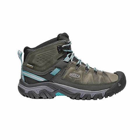 Keen Targhee III Mid Womens Hiking Boot Alcatraz Blue Turquoise side view