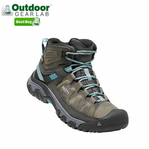 Keen Targhee III Mid Womens Hiking Boot Alcatraz Blue Turquoise side view outdoor gear lab best buy