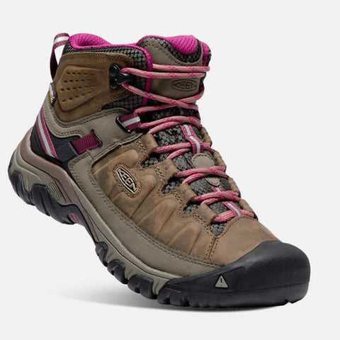Keen Targhee III Mid Womens Hiking Boot Weiss Boysenberry side view