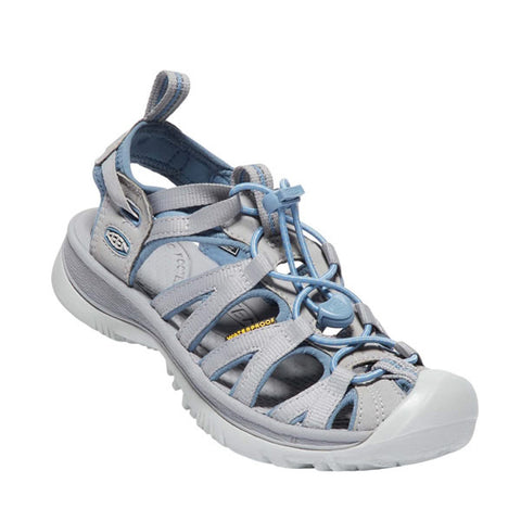 Keen Whisper Womens Multisport Sandal Blue Shadow/ Alloy Diagonal View