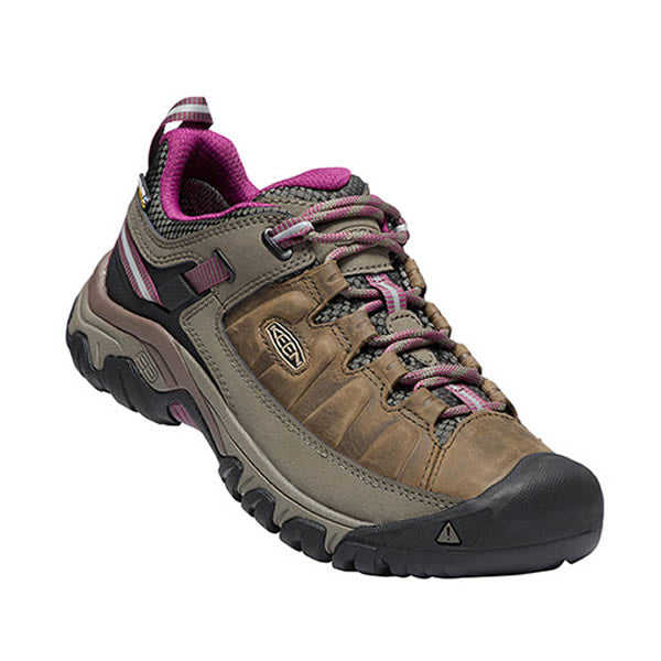 Keen Targhee III Womens Waterproof Hiking Shoe weiss boysenberry front view