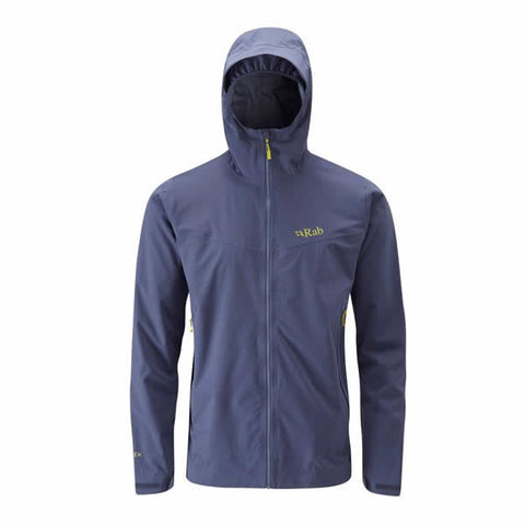 Rab Men's Kinetic Waterproof Stretchy Softshell Jacket Steel top pick award outdoor gear lab