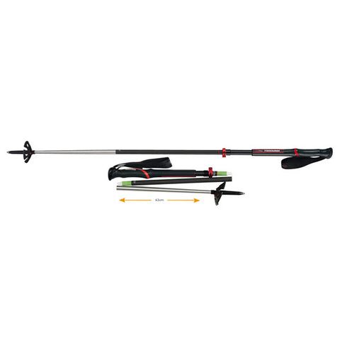 Komperdell Carbon Expedition Tour 4 Compact Trekking Pole (Pair)