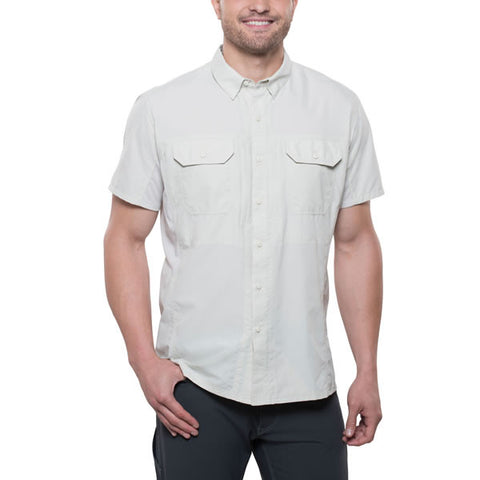 Kuhl Airspeed Men's Short-Sleeve Quick-Dry Travel Shirt front view natural colour